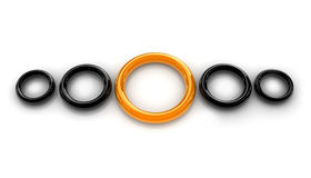 Yellow ring Stock Images