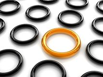 Yellow ring Royalty Free Stock Image