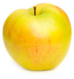 Yellow ripe apple Royalty Free Stock Image