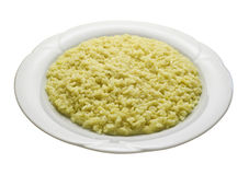 Yellow risotto with saffron Stock Photo