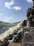 Yellow River Hukou vattenfall Arkivbilder