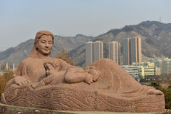The Yellow River Mother Sculpture Stock Photos