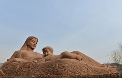 The Yellow River Mother Sculpture. In LanZhou of China Royalty Free Stock Photo