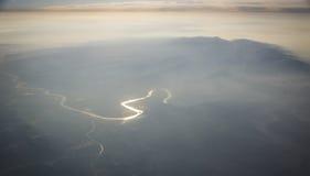 Yellow River och Taihang berg Arkivbild