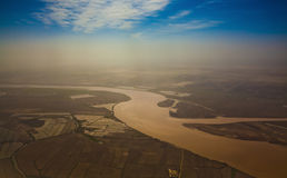Yellow river sunset Stock Photography