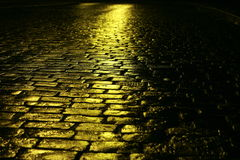 Yellow road Stock Photo