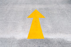 Yellow Road Arrow Royalty Free Stock Photography