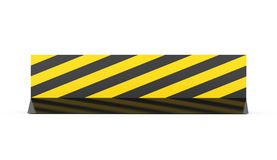 Yellow road barrier rendered isolated Royalty Free Stock Photos