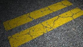 Yellow road lane stock video