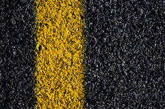 Yellow Road Marking  Stock Photos