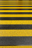 Yellow road marking Stock Photo