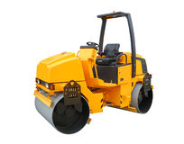 Yellow road roller Royalty Free Stock Photos