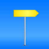 Yellow road sign Stock Image