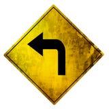 Yellow road sign Stock Photo