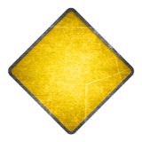 Yellow road sign Stock Photography