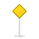Yellow road sign Royalty Free Stock Photography