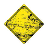 Yellow road traffic sign Royalty Free Stock Image