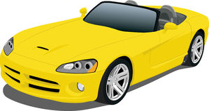 Yellow Roadster. A Vector .eps illustration of a Dodge Viper convertible sports car. Saved in layers for easy editing. See my portfolio for more automotive stock illustration