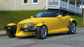 Yellow roadster Royalty Free Stock Photos