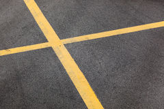 Yellow Roadway Lines Royalty Free Stock Image