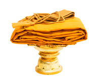 Yellow Robe isolated Stock Photos