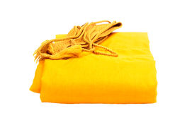 Yellow Robe isolated Royalty Free Stock Images