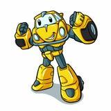 Yellow robot - beetle - robot cartoon stock illustration