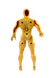A yellow robotic dolls Stock Image