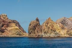 Yellow rocks on White Island Stock Photos
