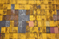 Yellow roof. Royalty Free Stock Images
