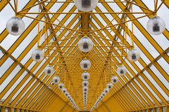 Yellow roof of Andrew's Bridge in Moscow Royalty Free Stock Photo