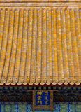 Yellow roof of China traditional building Royalty Free Stock Image