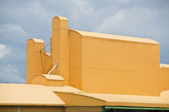 Yellow roof factory. Stock Images