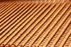 Yellow Roof Glazed Tiles Royalty Free Stock Image