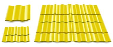 Yellow roof tile Stock Photos