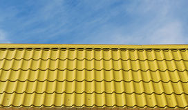 Yellow roof tiles. Royalty Free Stock Photography