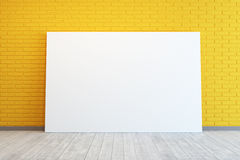 Yellow room with blank picture Stock Photography