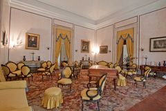 The Yellow Room - National Palace of Mafra stock photos