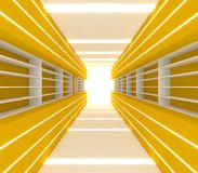 Yellow room with shelf Stock Images