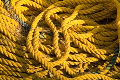 Yellow rope Stock Image
