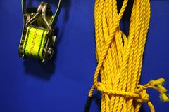 Yellow rope Royalty Free Stock Image