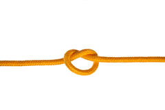 Yellow Rope with Knot Royalty Free Stock Images