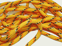 Yellow rope with some nodes. Stock Photography
