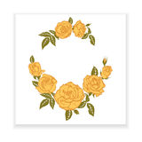 Yellow rose, element for design Royalty Free Stock Photo