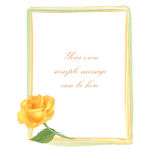 Yellow rose frame Royalty Free Stock Photo
