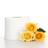 Yellow rose with tissue Royalty Free Stock Photography
