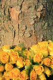 Yellow rose wedding arrangement Royalty Free Stock Images
