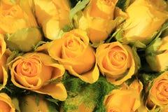 Yellow rose wedding arrangement Royalty Free Stock Photography