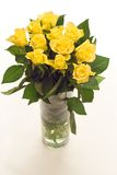 Yellow roses. Bouquet of yellow roses isolated on white background royalty free stock images