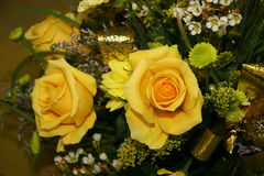 Yellow roses. A gift of a yellow roses royalty free stock photography